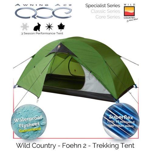 Wild Country Foehn 2 Trekking Travel Tent Package cw Sleeping Bags