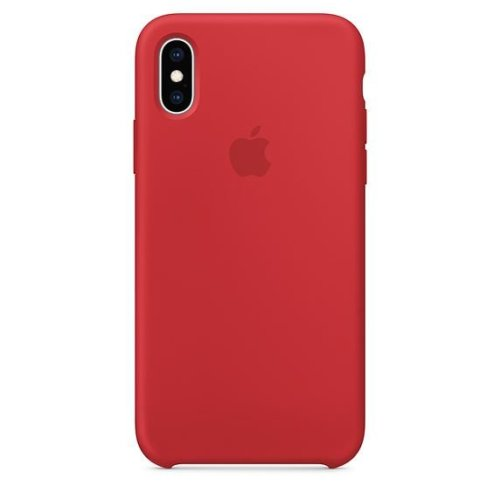 Apple iPhone XS Silicone Case - (PRODUCT)RED