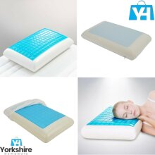 Cooling Orthopedic Memory Foam Pillow Gel Firm Head Neck Back Bedding Support