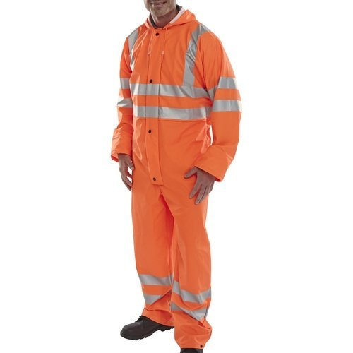 (XXXL) Click PUC471ORXXL Hi Vis Orange Breathable Coverall EN471 XXL