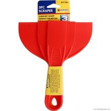 Plastic Scraper Set Spatula Putty Knife Spreader Puty Filler 38, 76, 152 mm
