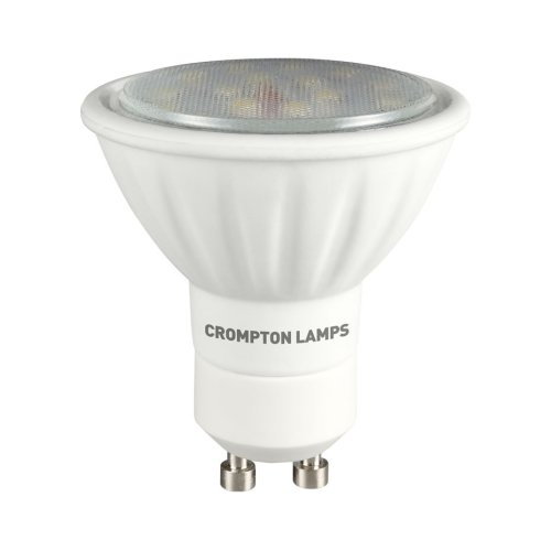 Crompton LED GU10 SMD 3W Non-Dimmable Spotlight, 100° Beam, Cool White