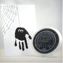 Giant Hand & Foot Print Paint Pad for Halloween Crafts, Cards, Spiders, Pumpkins.