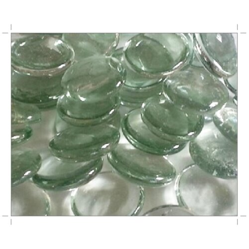 (Clear Round 30mm, 500g) Larger Glass Stones & Chippings
