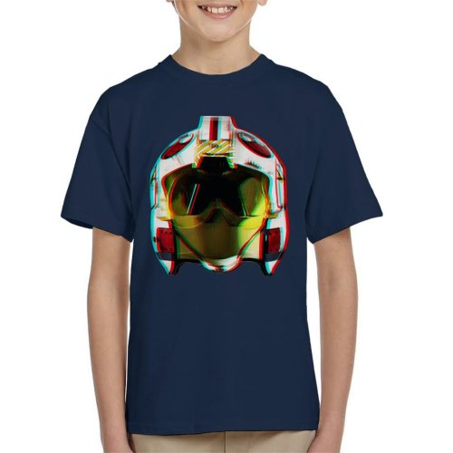 Original Stormtrooper Rebel Pilot Helmet 3D Effect Kid's T-Shirt