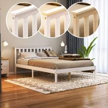 Milan Bed Frame Low Foot End Solid Pine Wood Frame