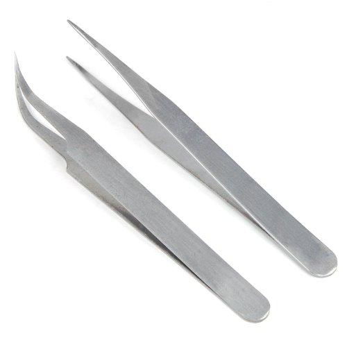 2pc Trixes Steel Nail Art Tweezers