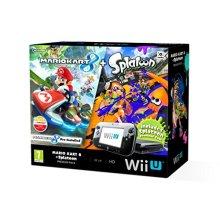 Nintendo Wii U 32GB Mario Kart 8 and Splatoon Premium Pack - Black (New) - Used