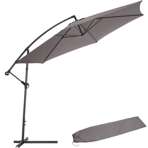 Cantilever Parasol 350cm with protective sleeve - grey