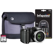 Kodak PIXPRO AZ252 Bridge Camera inc 4x AA Batteries, 32GB SD, Case and Charger