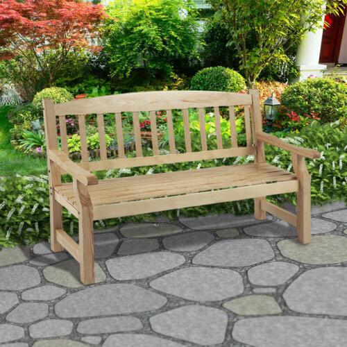 152CM 5 Foot Wooden Garden Bench Patio Outdoor Park Bench Patio Park Furniture
