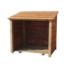 Wooden Log Store (W-119cm, H-118cm, D-71cm)