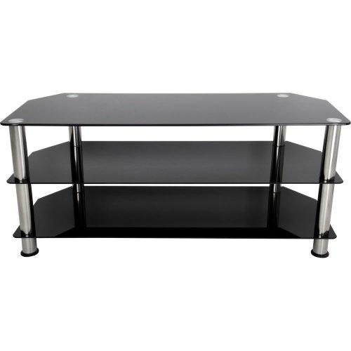 AVF SDC1140 TV Stand - Black & Chrome, Black