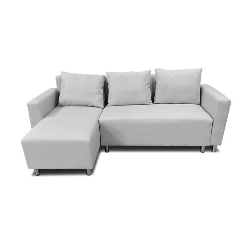 (Gray Right) Corner Sofa Bed with Underneath Storage