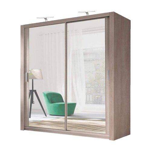 (Oak/Sonoma, 150cm) German Sliding Wardrobes Milan Mirrored Bedroom Sliding Wardrobe
