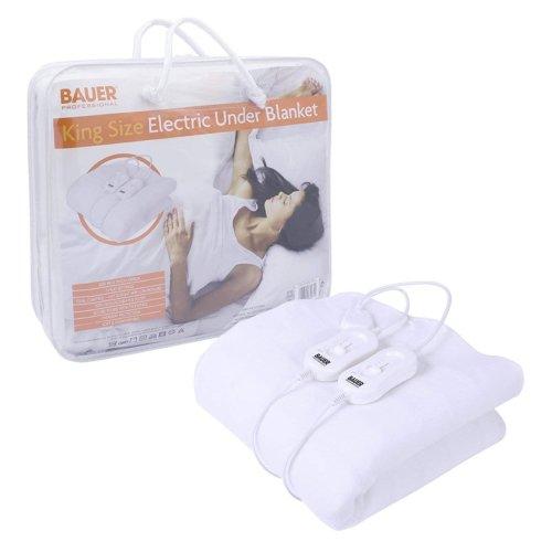 Bauer King Size Electric Under Blanket 3 Heat 140x150cm