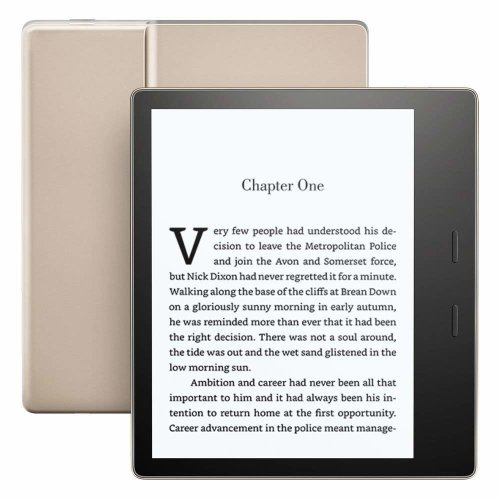"""Kindle Oasis E-reader - Gold, Waterproof, 7"""" High-Resolution Display (300 ppi), Built-In Audible, 32 GB Wi-Fi"""