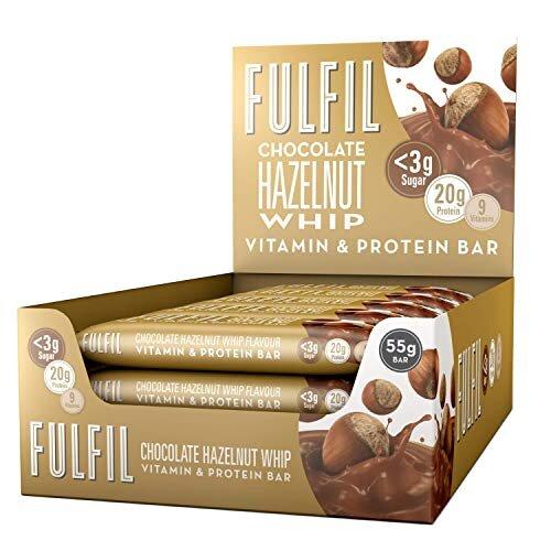 FULFIL Vitamin and Protein Bar (15 x 55g Bars) âÃà Chocolate Hazelnut Whip Flavour âÃà 20g Protein, 9 Vitamins, Low Sugar
