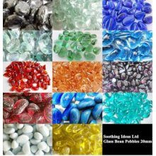Glass Bean Pebbles 20mm