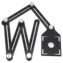 Multi Angle Measuring Ruler, Aluminum Folding Positioning, Wood Tile Flooring Tool