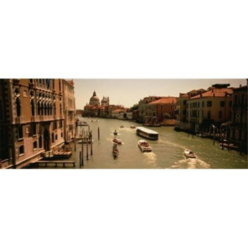 High angle view of boats in water  Venice  Italy Poster Print by  - 36 x 12