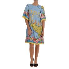 Dolce & Gabbana Multicolor Sicily Map Printed Dress