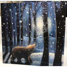 Going Home for the Winter greetings card by Hannah Willow