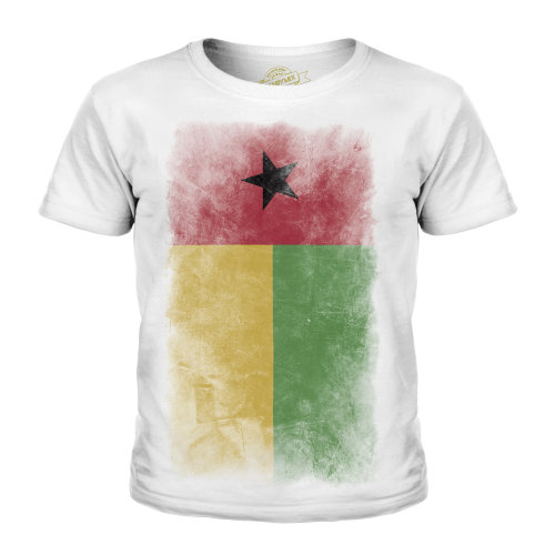 Candymix - Guinea Bissau Faded Flag - Unisex Kid's T-Shirt