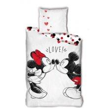 duvet cover Mickey & Minnie 140 x 200 cm cotton white