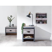 Boston Urban Design Living Room Furniture - Grey Lamp Side Table