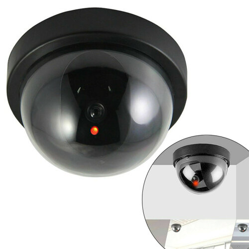 Dummy CCTV Dome Security Camera IR Fake Infrared LEDs Lightup in Dark