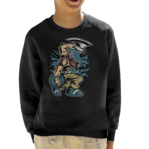 Viking Warrior With Axe Kid's Sweatshirt