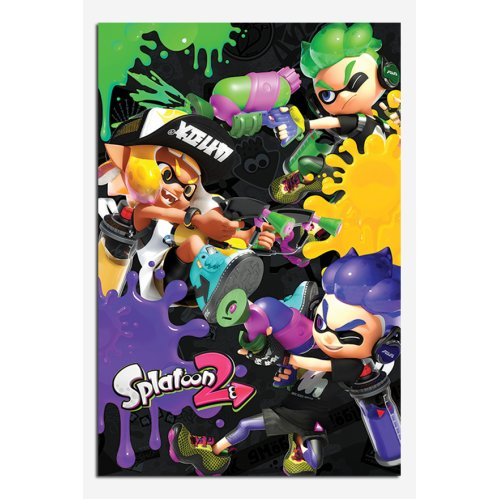 Splatoon 2 Three Way Battle A Poster
