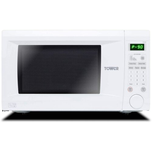 Tower KOR1N0AT Family-Size Touch Control Digital Microwave, 1000W, White