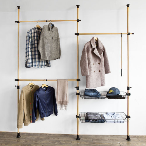 SoBuy FRG106 Hanging Clothes Rail | Adjustable Clothes Organiser