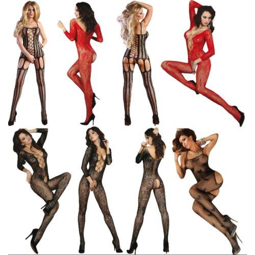 Sexy Body Stocking 20 Models Crotchless Mesh Lace Net Bodysuit Lingerie Fetish Fishnet