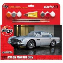 Airfix A50089B Medium Starter Set Aston Martin DB5 Silver 1:32 Plastic Model Kit