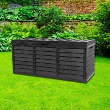 Gr8 Garden Black 320L Outdoor Storage Box | Plastic Garden Utility Chest