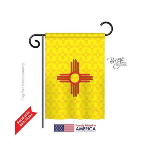 Breeze Decor 58073 States New Mexico 2-Sided Impression Garden Flag - 13 x 18.5 in.
