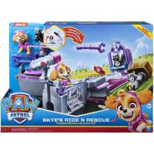 Paw Patrol 6054921 Skyeâ€s Ride N Rescue, 2-in-1 Transforming Playset and Helicopter, for Kids Aged 3 Years and Over, Multicolour
