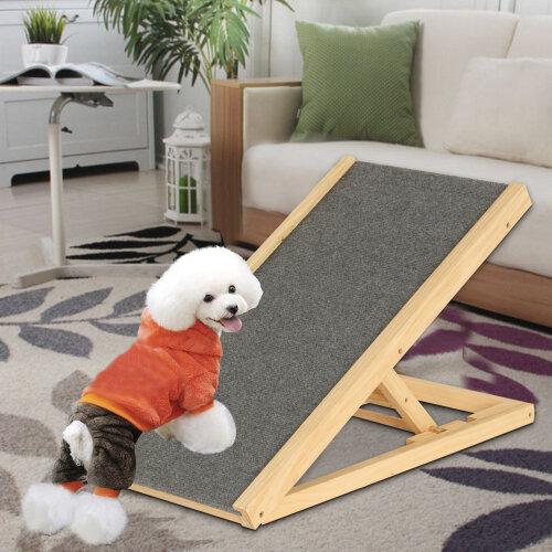 Adjustable Heights Non-Slip Carpet Stair Freestanding Dog Stair Ramp