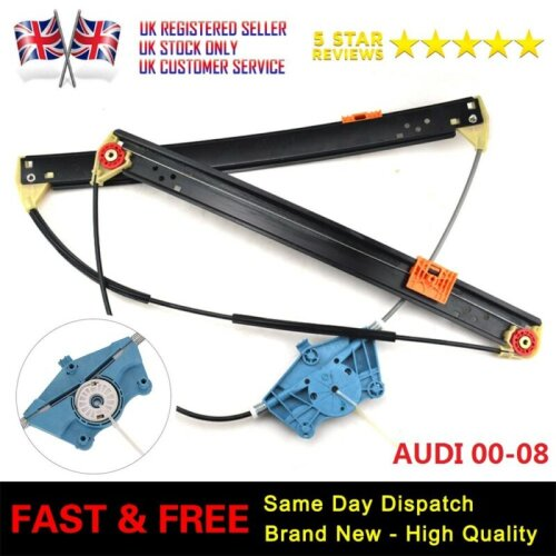 New Electric Window Regulator Front Driver Side Fits Audi A4 S4 B6/B