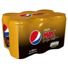 12 x pepsi max ginger 330ml cans 2 x 6 Packs
