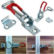 Latch Catch Metal Cabinet Boxes Handle Adjustable Toggle Door Lock Clamp Hasp