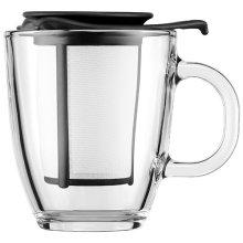 Bodum Yo Yo Set, Mug and Tea Strainer - Black