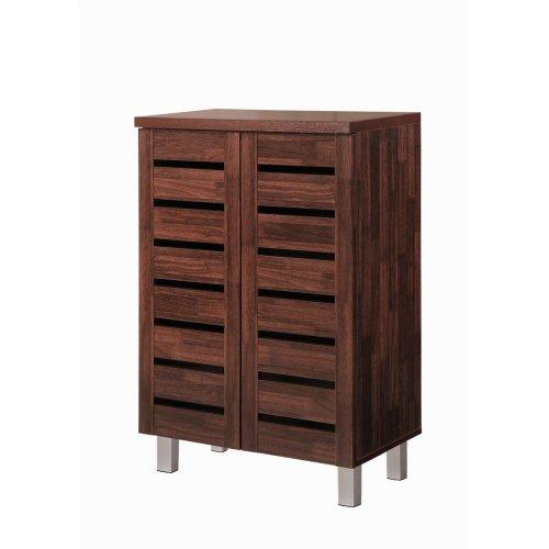 Essentials 4 Tier Shoe Storage Cabinet Cupboard Bedroom Hallway Shelf Dirty Oak
