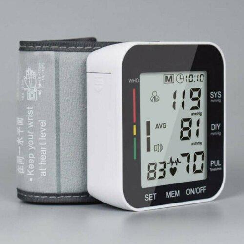 Digital Automatic Wrist Blood Pressure Monitor Heart Rate Tester Measure Machine