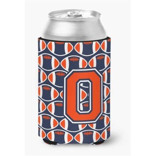 Letter O Football Orange, Blue & White Can or Bottle Hugger