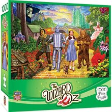 MasterPieces Wizard of Oz Jigsaw Puzzle, Off to See The Wizard, with Dorthy, Toto & Friends, 1000 Pieces