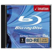 Imation BD-RE SL, 1x-2x, 25GB, Jewelcase 25GB BD-RE 1pc(s)